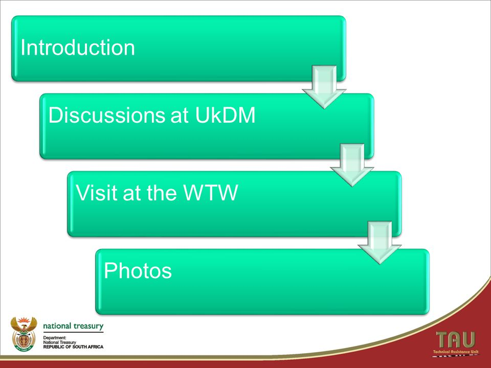 Introduction Discussions at UkDM Visit at the WTW Photos