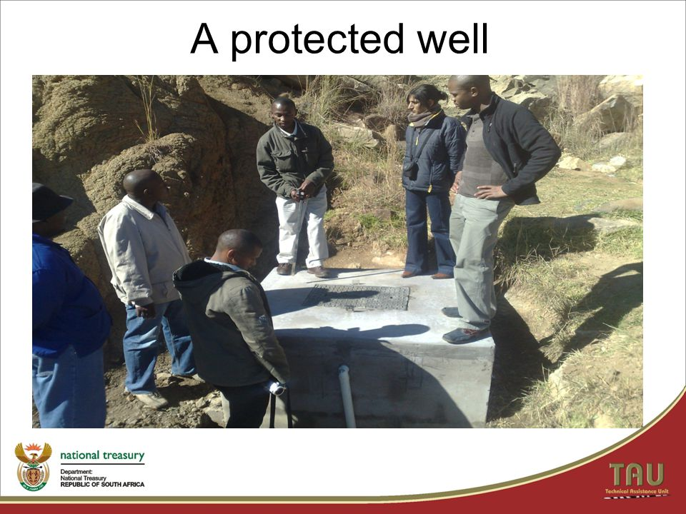 A protected well