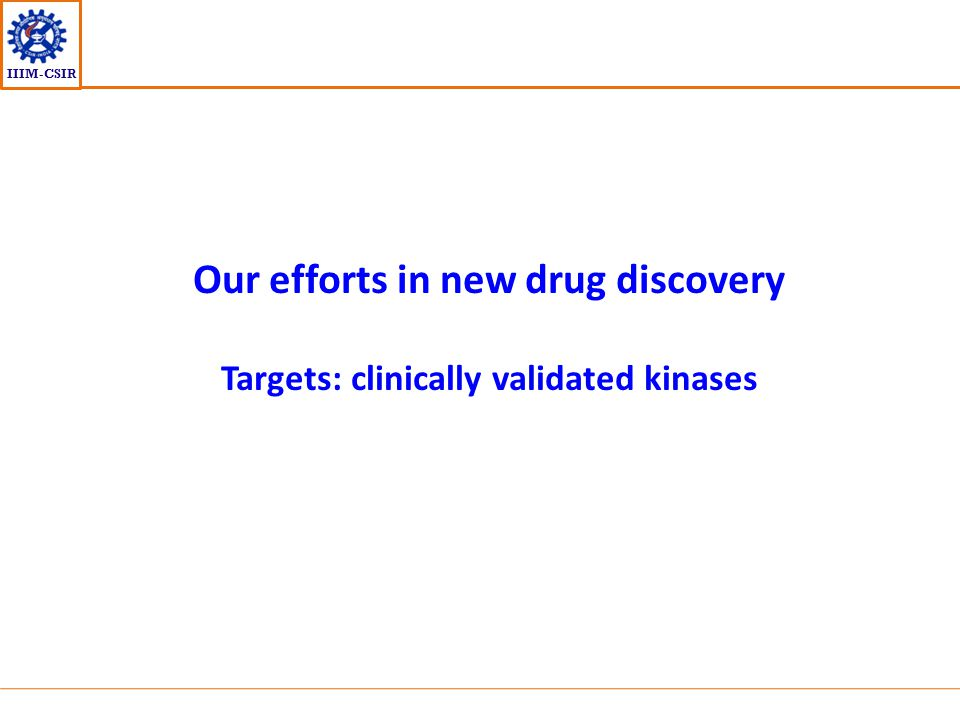Our efforts in new drug discovery