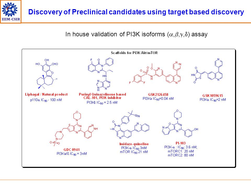 Discovery of Preclinical candidates using target based discovery