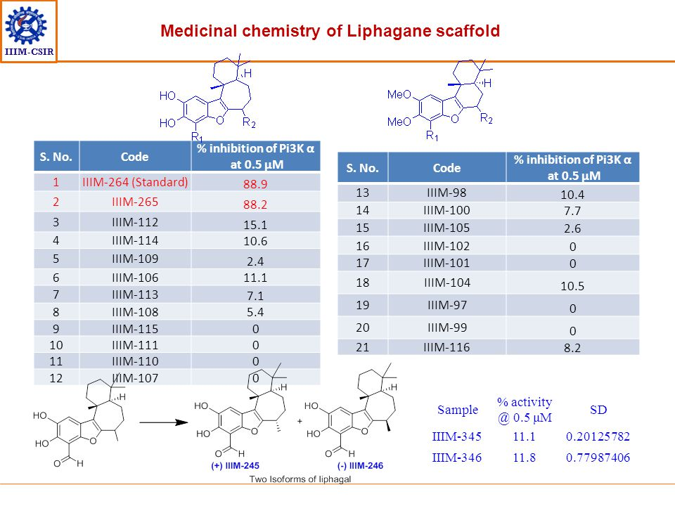 Medicinal chemistry of Liphagane scaffold