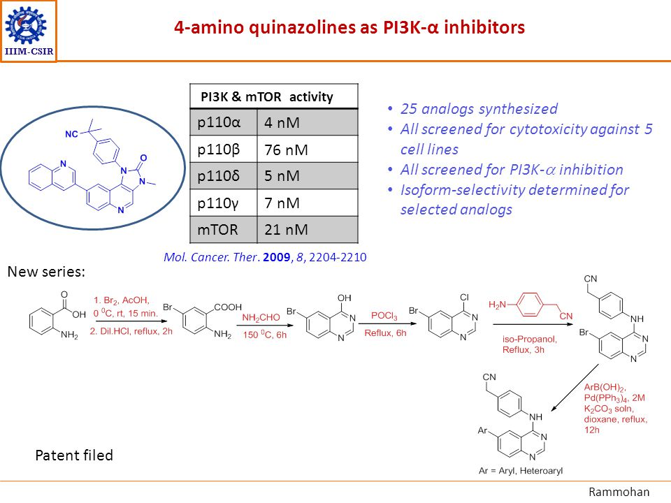 4-amino quinazolines as PI3K-α inhibitors