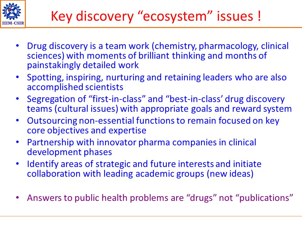 Key discovery ecosystem issues !