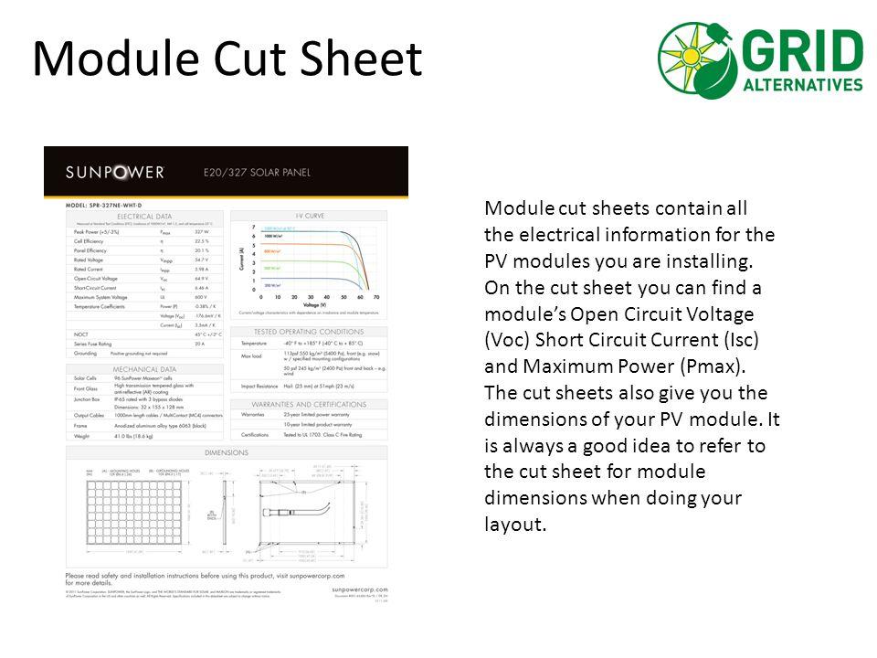 Module Cut Sheet