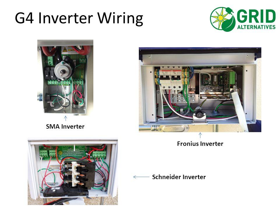 G4 Inverter Wiring SMA Inverter Fronius Inverter Schneider Inverter