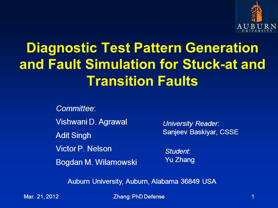 Diagnostic Test Pattern Generation and Fault Simulation for Stuck-at and Transition Faults