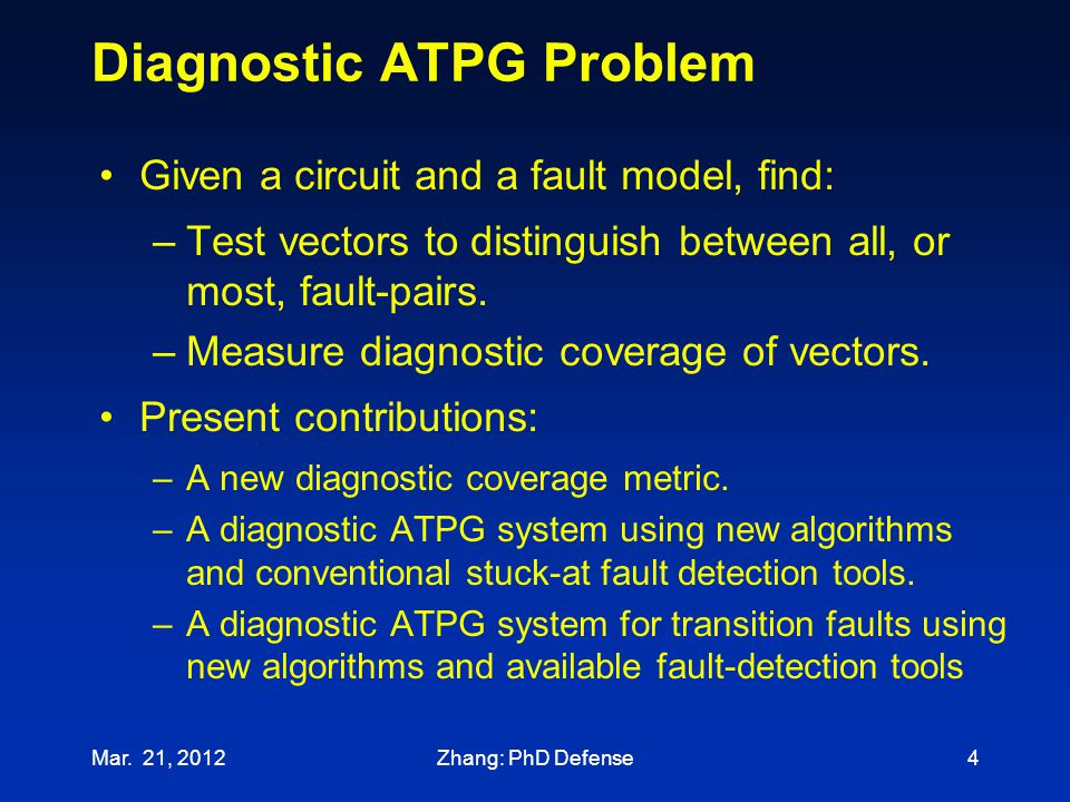 Diagnostic ATPG Problem