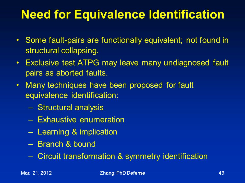 Need for Equivalence Identification