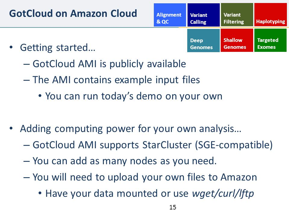 GotCloud on Amazon Cloud