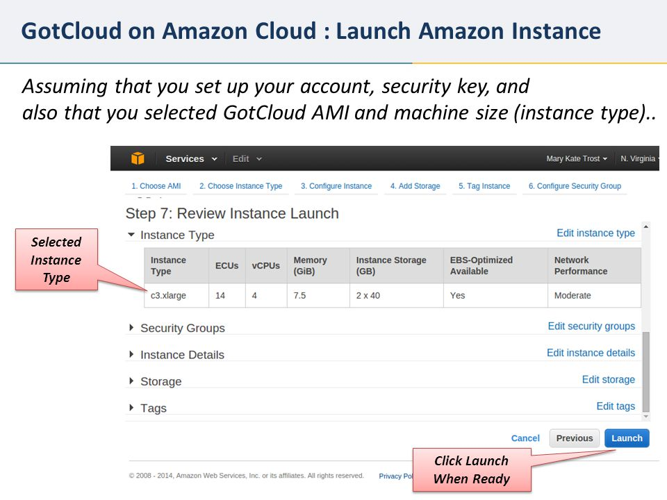 GotCloud on Amazon Cloud : Launch Amazon Instance