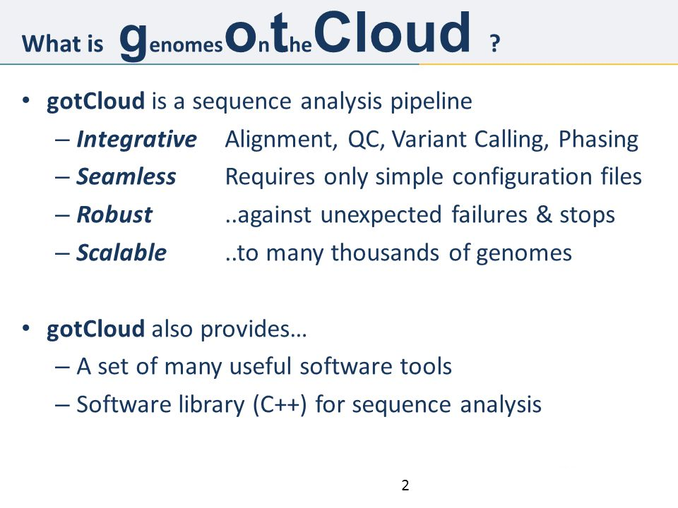 What is genomesontheCloud
