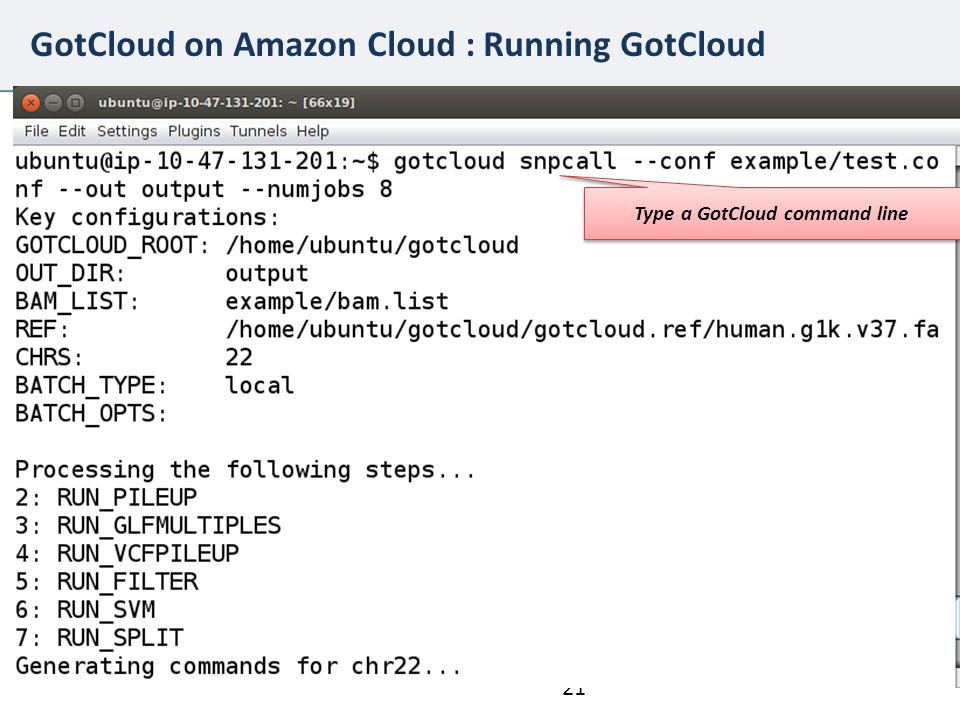 GotCloud on Amazon Cloud : Running GotCloud