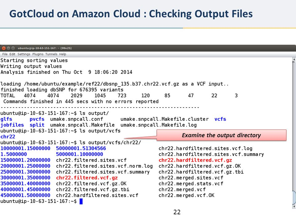 GotCloud on Amazon Cloud : Checking Output Files