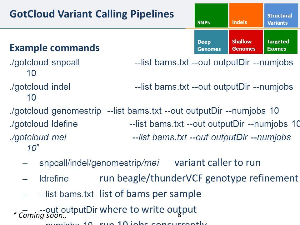 GotCloud Variant Calling Pipelines