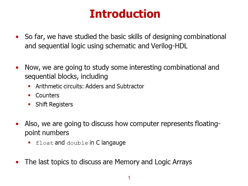 introduction so far we have studied the basic skills of designing  1 introduction