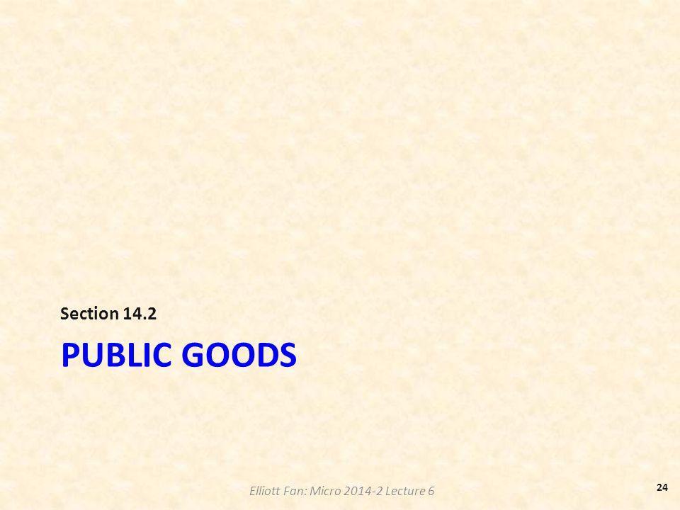 Section 14.2 Public goods