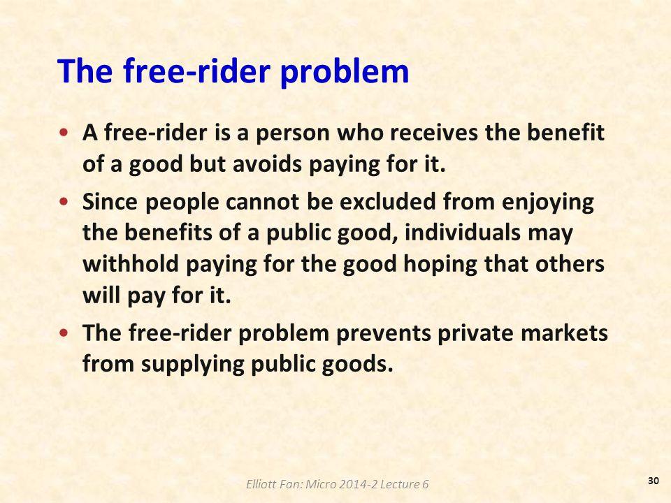 The free-rider problem