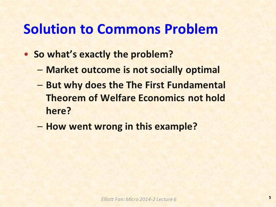 Solution to Commons Problem