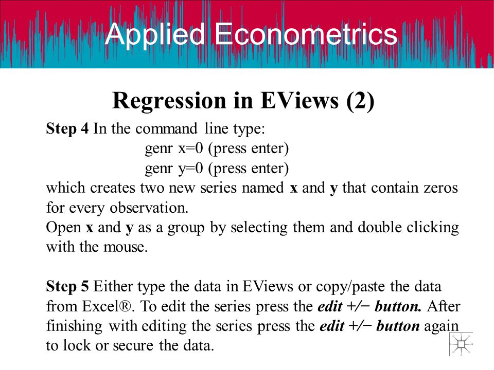 Regression in EViews (2)