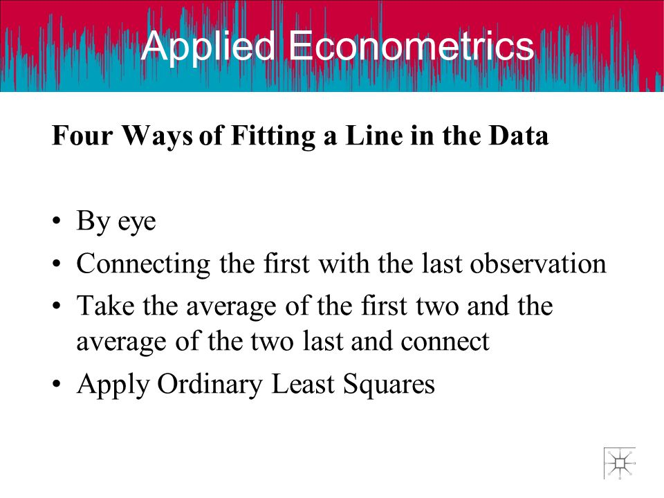 Four Ways of Fitting a Line in the Data
