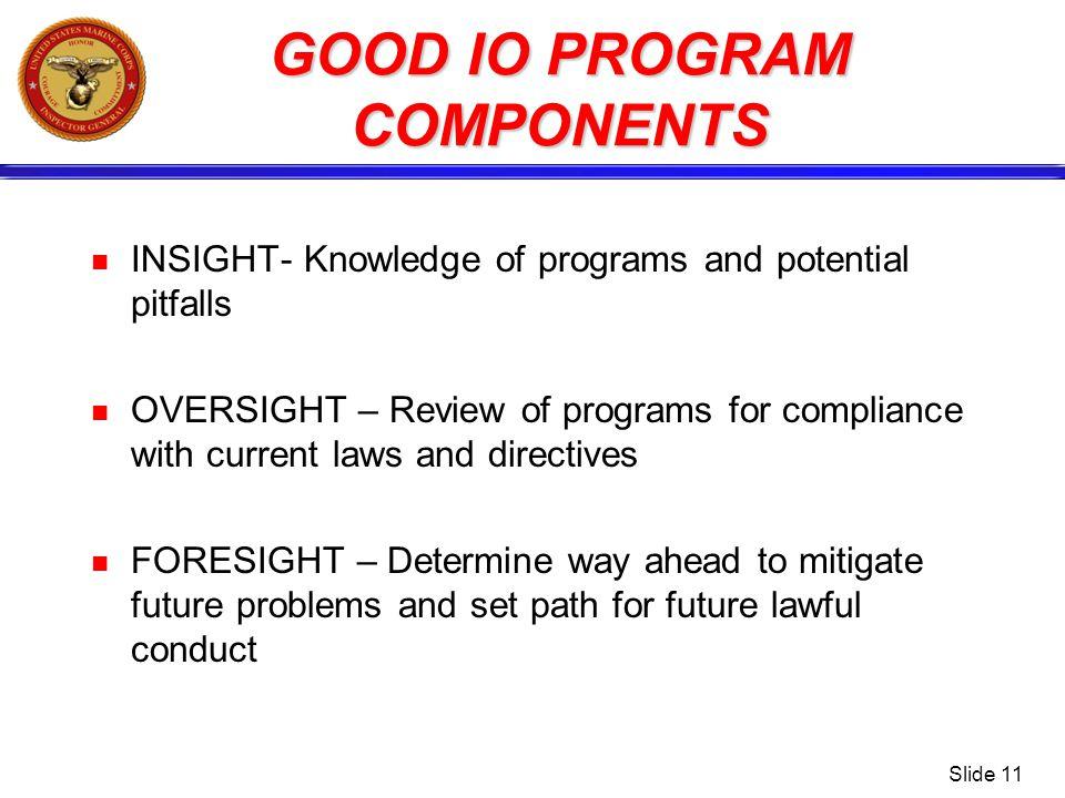 GOOD IO PROGRAM COMPONENTS