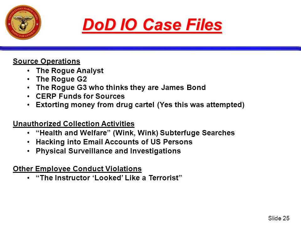 DoD IO Case Files Source Operations The Rogue Analyst The Rogue G2