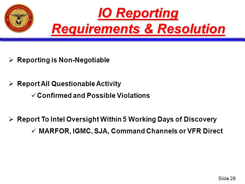 Requirements & Resolution