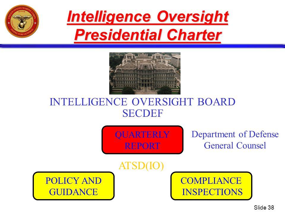 Intelligence Oversight Presidential Charter