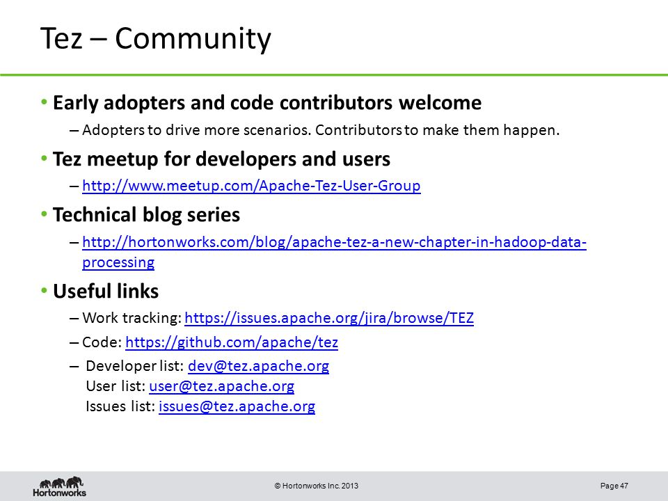 Tez – Community Early adopters and code contributors welcome