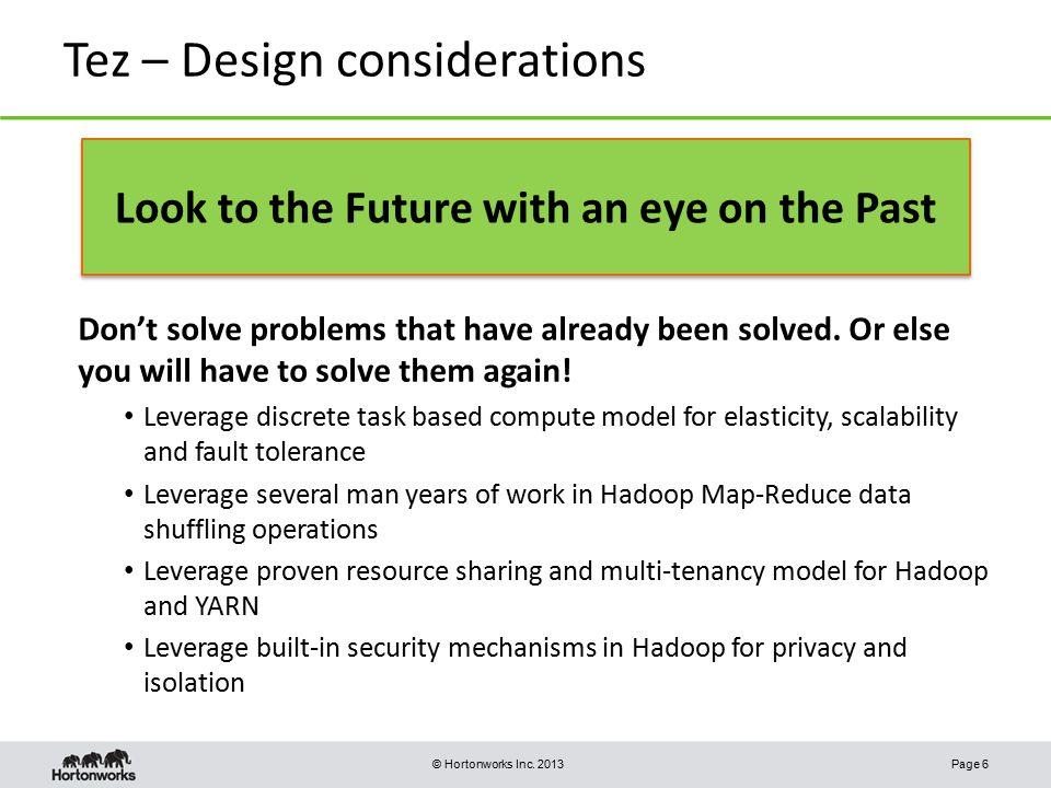 Tez – Design considerations