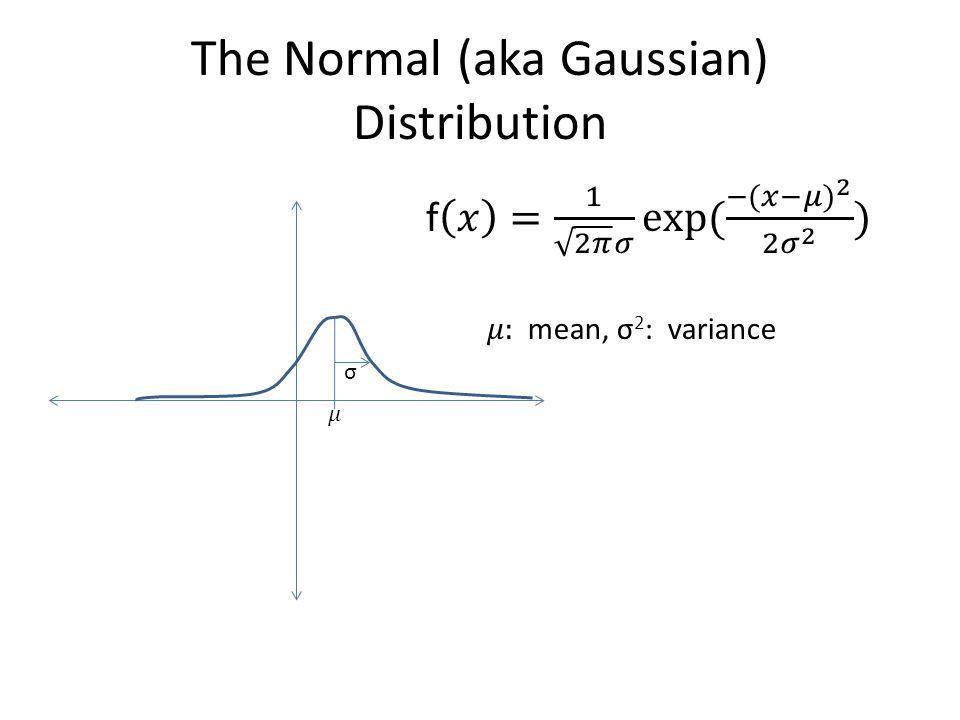 The Normal (aka Gaussian) Distribution