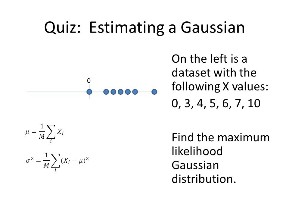 Quiz: Estimating a Gaussian