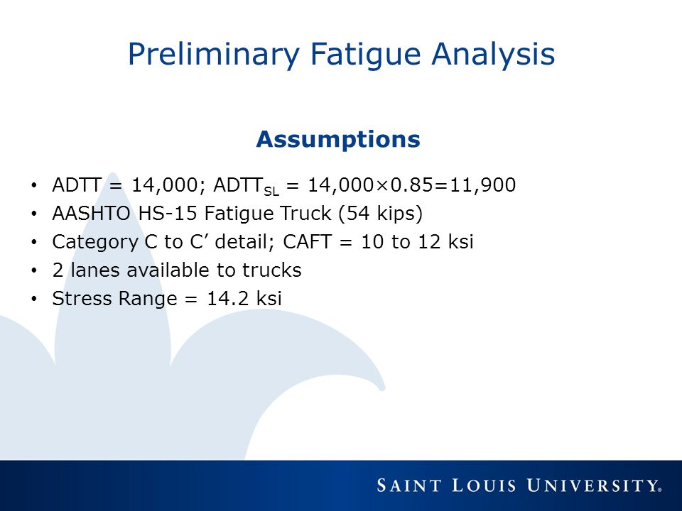 Preliminary Fatigue Analysis