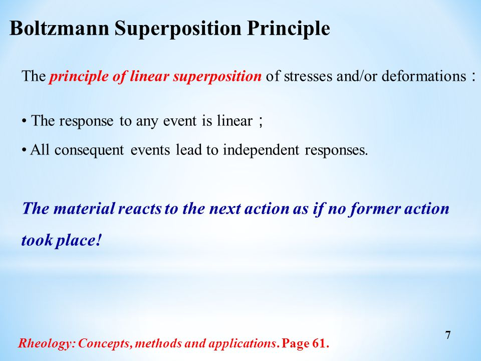 Boltzmann Superposition Principle