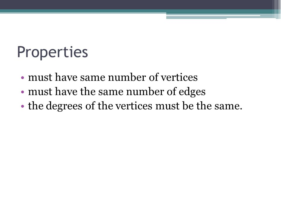 Properties must have same number of vertices
