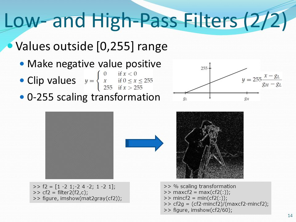 Low- and High-Pass Filters (2/2)