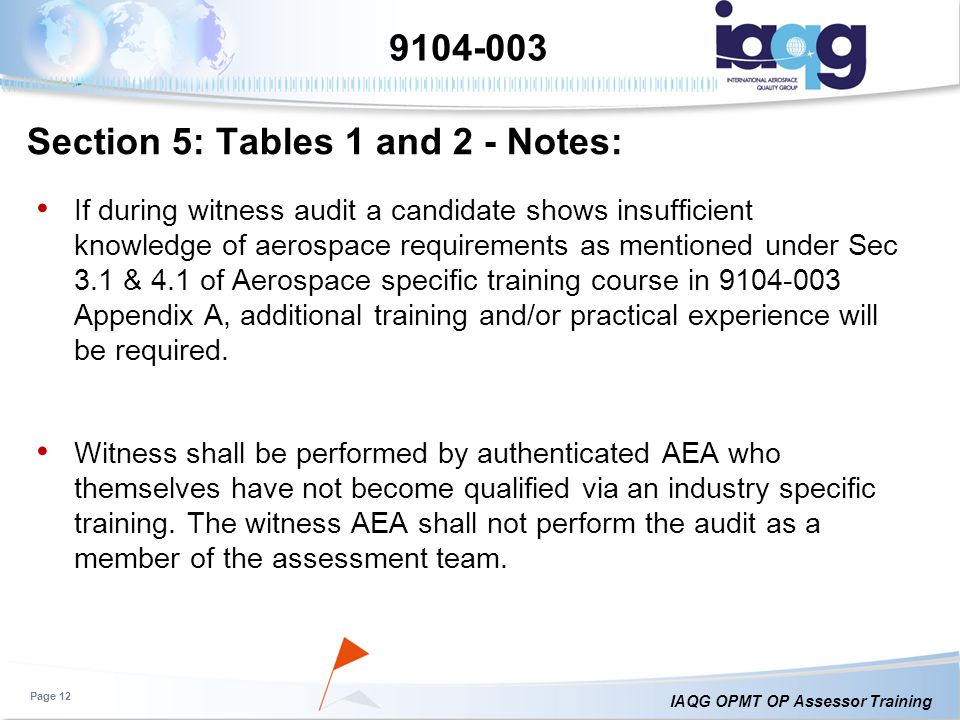 Section 5: Tables 1 and 2 - Notes: