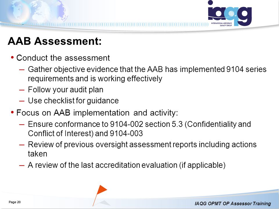 AAB Assessment: Conduct the assessment