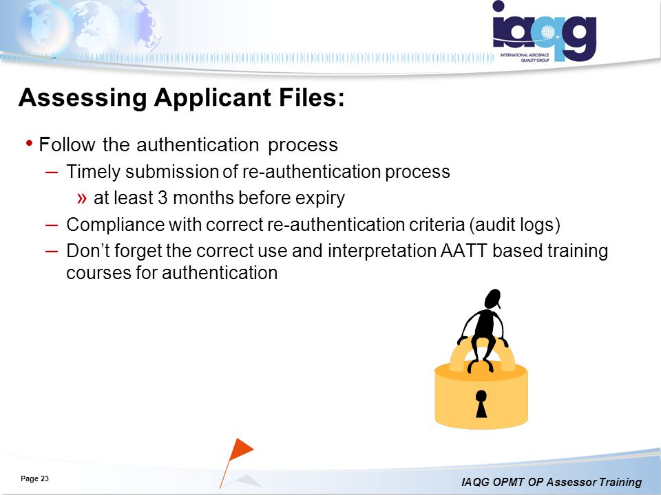 Assessing Applicant Files: