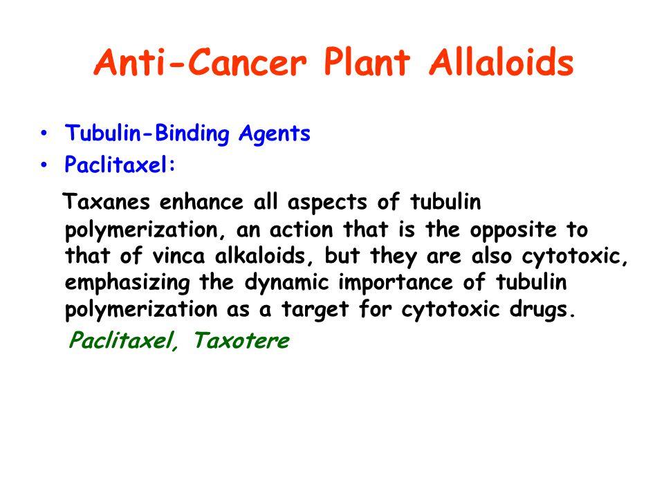 Anti-Cancer Plant Allaloids