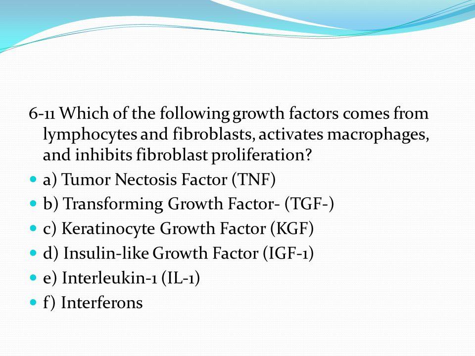 a) Tumor Nectosis Factor (TNF) b) Transforming Growth Factor- (TGF-)
