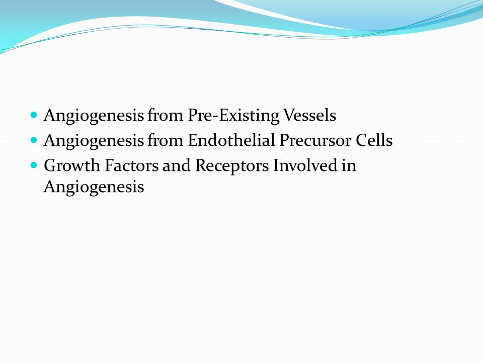 Angiogenesis from Pre-Existing Vessels
