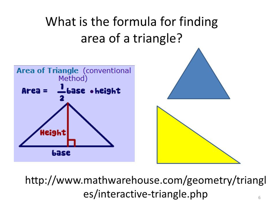 What is the formula for finding