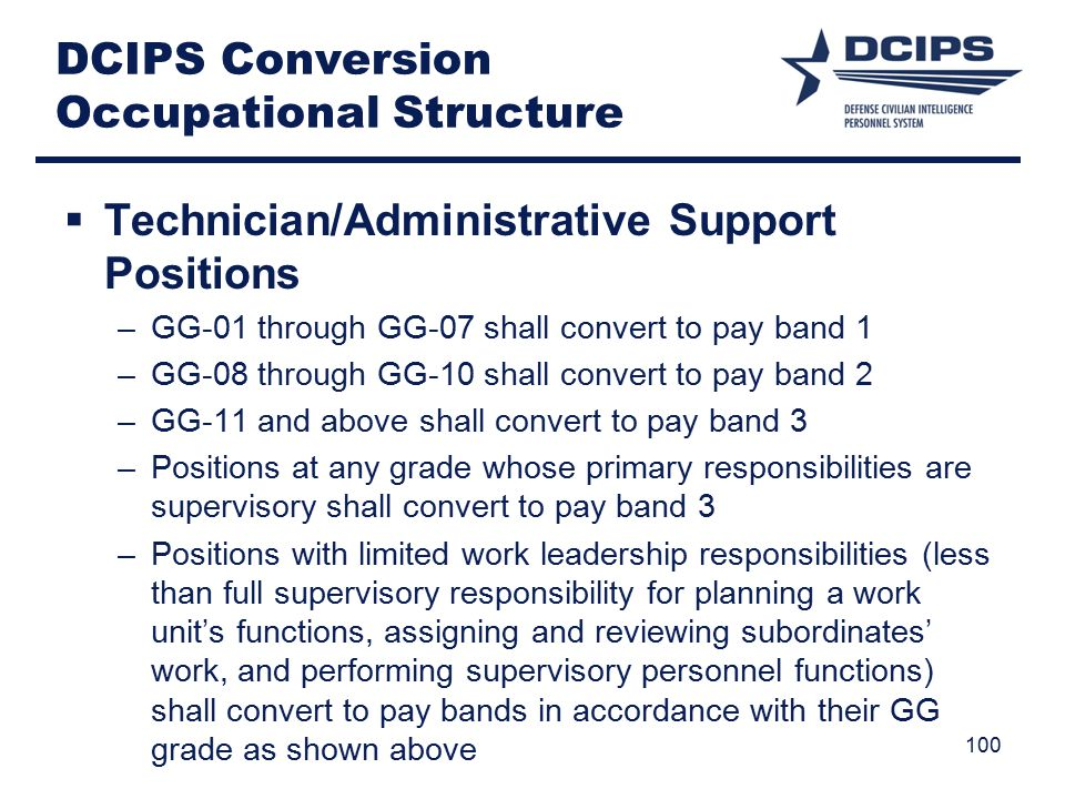 DCIPS Conversion Occupational Structure