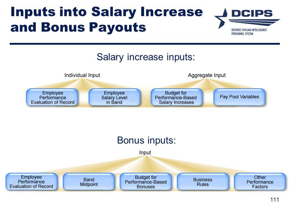 Inputs into Salary Increase and Bonus Payouts