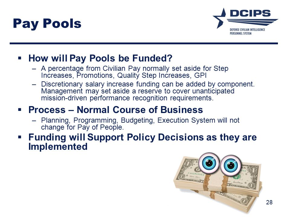 Pay Pools How will Pay Pools be Funded