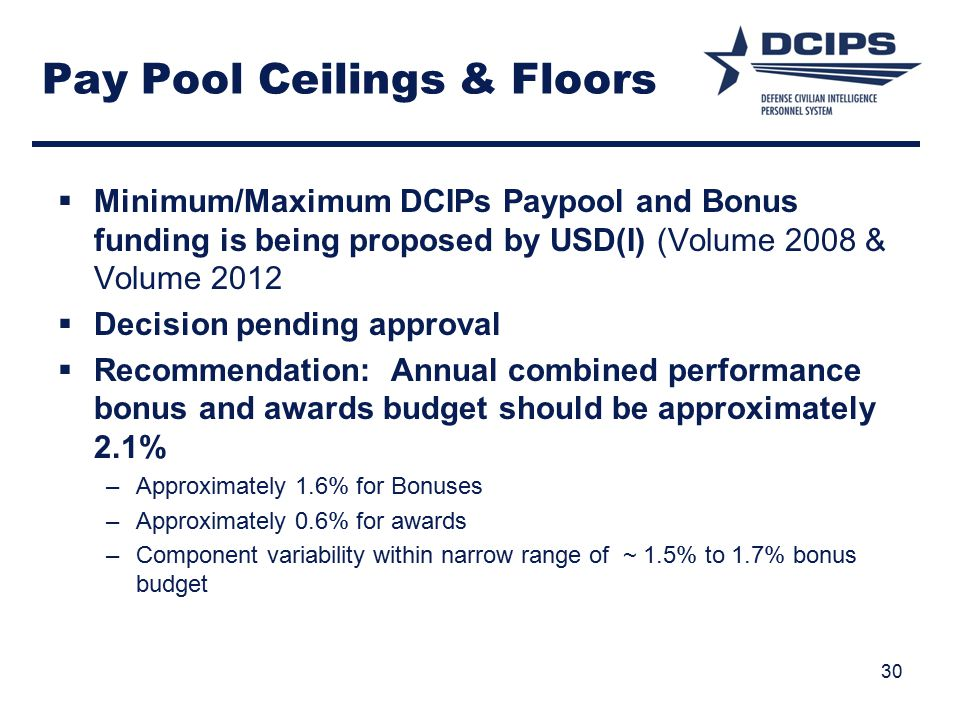 Pay Pool Ceilings & Floors