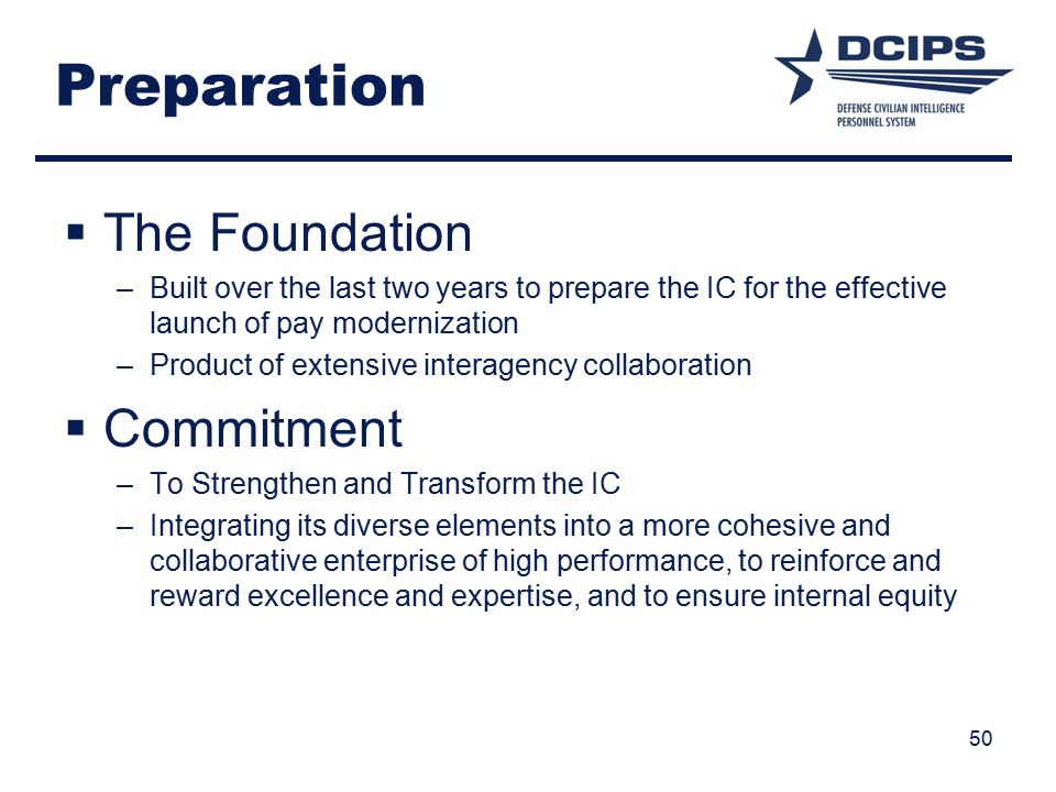 Preparation The Foundation Commitment