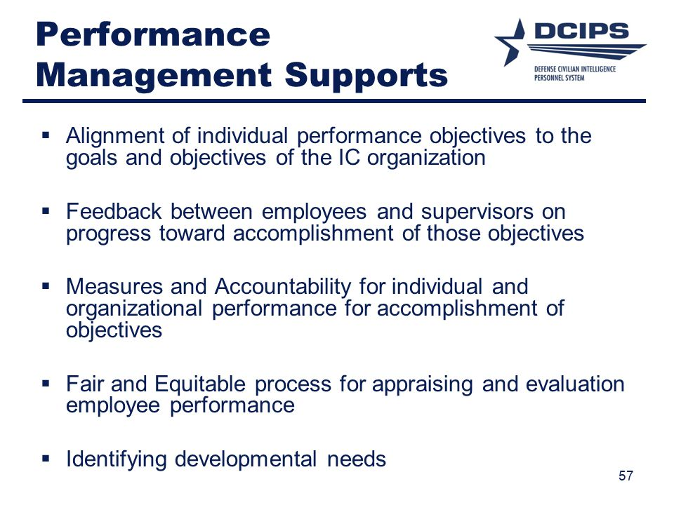 Performance Management Supports