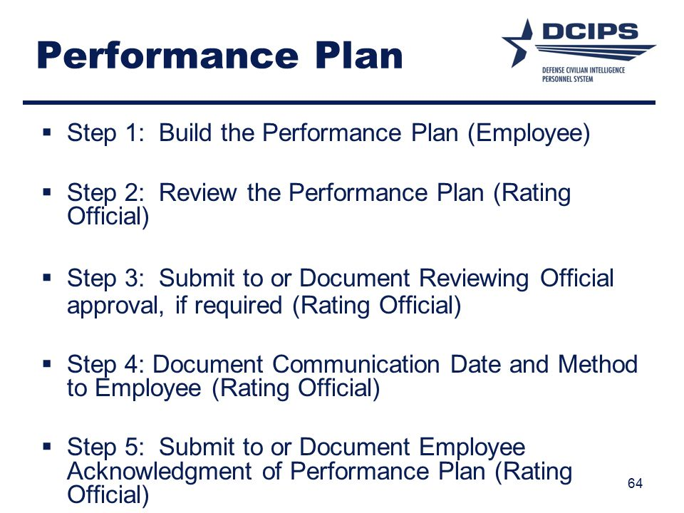 Performance Plan Step 1: Build the Performance Plan (Employee)
